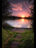 Sunset over Coat Water by GMCPhotographics