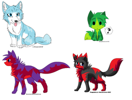 Wolf Adopts 2 ::CLOSED:: by DappleFeather