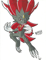 *POKEMON OC*:  Weavile by Armpit-Warrior