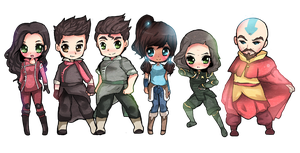 Chibi Legend of Korra by Geegeet