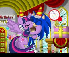 Com: Sonic Twilight Sparkle - A Little BDay Magic by BroDogz