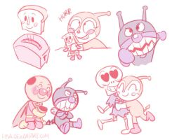 Anpanman Sketch Dump by HamsterParade