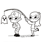 Inktober 3: Dipper and Mabel by DoodleForFood