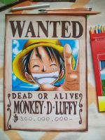 wanted, monkey.d.luffy by Tenemur
