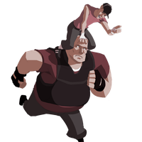 TF2 - Run, fatass, run by almond-goddess