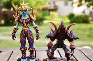 World of Warcraft Groom's Cake Toppers by Erisana