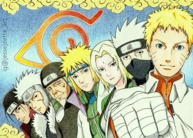 The 7 Generations of Hokage by jessejzette