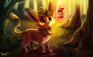 Daily 4 - Leafeon by Cryptid-Creations