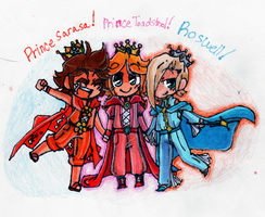 Genderbend: The Princesses by GeekyKitten64
