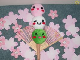 Japanese Sweet Dango Plushie by LiLMoon