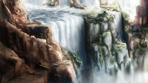 The Water Falls by Alexlinde
