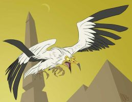 Egyptian Vulture by SuperStinkWarrior