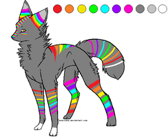 RAINBOW DOG ADOPT ..::CLOSED::.. by love-the-adopts