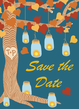 T+P Save the Date Card by Chartoons