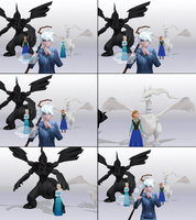 MMD Frozen-PKMN-RotG Comic - Detail And Logic by JackFrostOverland
