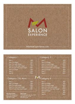 Salon Menu Concept 3 by mynando