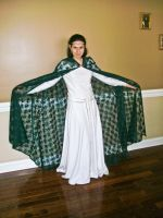 Elven Green Lace Cape by Draikairion