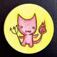Hand Drawn Buttons - Fire Devi by gippentarp