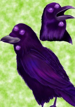 All seeing crows by AstroRisu