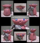 The pink cat with ribbon by nana106
