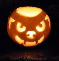 Little Werewolf Jack-O-Lantern by Nashoba-Hostina
