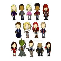 Doctor Who, Companions and Friends VERSION 2 by BantamBB