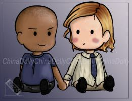 Criminal Minds: Morgeid chibis by essenceofthedark