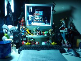 My Workstation in Darkness by CircleBat