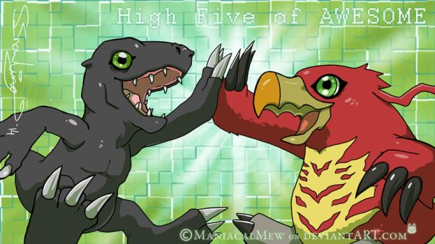 High Five of AWESOME by ManiacalMew