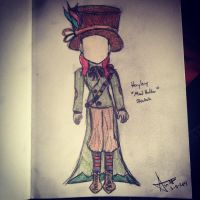 Mad Hatter Costume Sketch by AbbyCatWolff