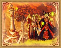 WoW - Blood Elves by ShivanaMoonflower
