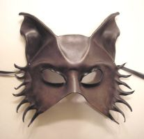 Wolf Dog Leather Mask, Greys by teonova