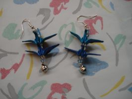 Double Crane Earrings by KiYtZiA