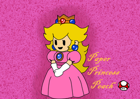 Paper Princess Peach Desktop Wallpaper by ILoveEdwardRichtofen