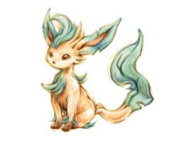Pokemon Sketch - Leafeon by BlueSkyeMonkey