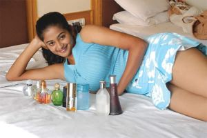 Indian Big Boobs on bed in blue by BoobsDoctor
