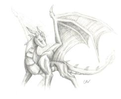 AT: Spyro sketch by Leithster