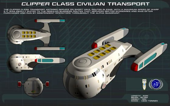 Clipper Class Civilian Transport ortho by unusualsuspex