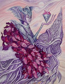 Knight of Cups for 78 Tarot Astral by RachelQuinlan