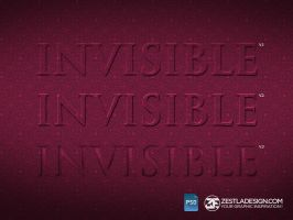 Invisible Text Layer Style Effect (FREEBIES) by zestladesign