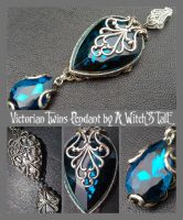 Victorian Twins Pendant by A Witch's Tale by LaceWingedSaby