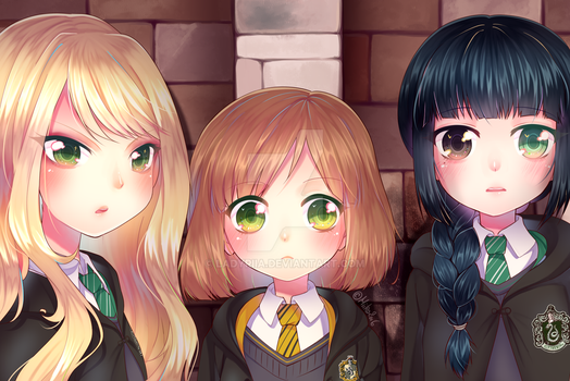 Harry Potter OCs - Lucina, Elise and Leia by TheMiiko