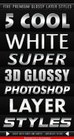 White Glossy Layer Styles by Giallo86