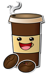 Coffee Cup and Beans by ShadowLifeman