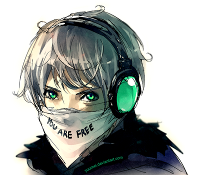 Fisheye Placebo: You Are Free by yuumei
