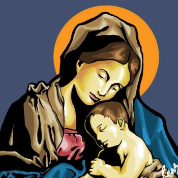 Madonna and child by slytherenz