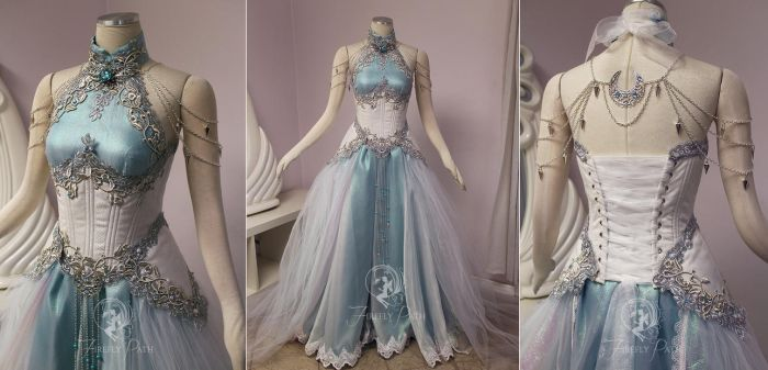 Moonlight Elven Gown by Firefly-Path