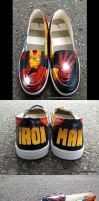 Iron Man Custom Shoes by GinnyMilling