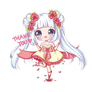 Thank you for 3000 Followers on Instagram by Chuubibii