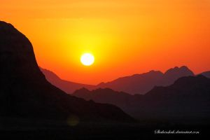 Desert Sunset by Shahenshah